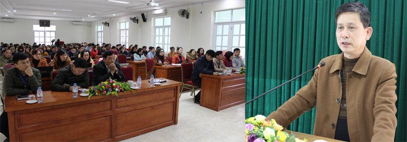 Bs Đặng Văn Huynh - Phó Giám đốc Sở Y tế phát biểu khai mạc lớp tập huấn