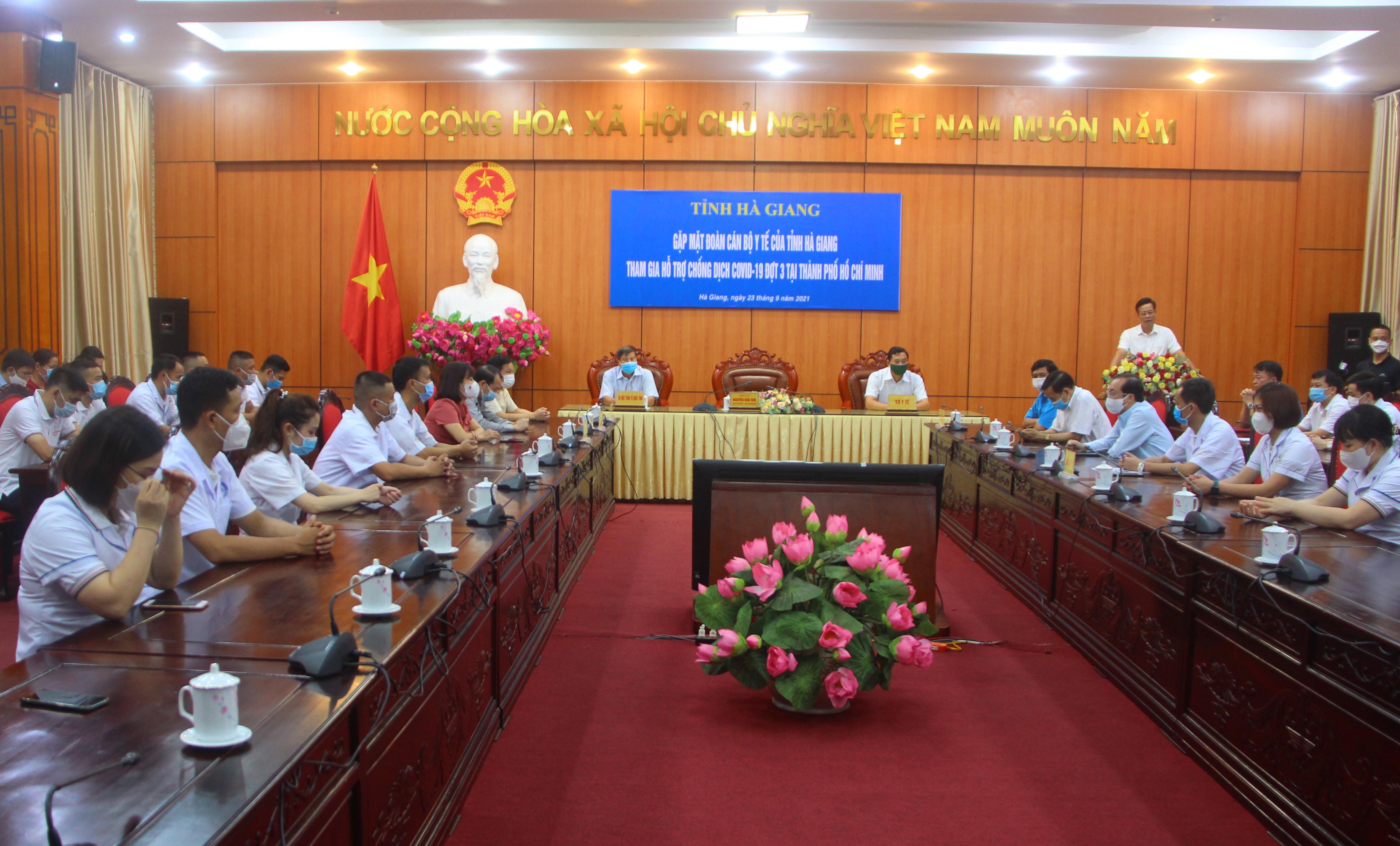 UBND tỉnh gặp mặt đoàn cán bộ Y tế tham gia hỗ trợ chống dịch COVID-19 đợt 3 tại thành phố Hồ Chí Minh