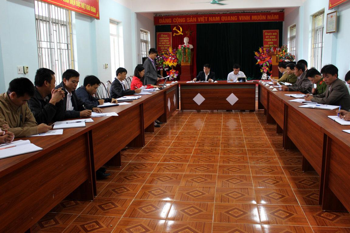 Làm việc với BCĐ PCTH thuốc lá huyện Hoàng Su Phì